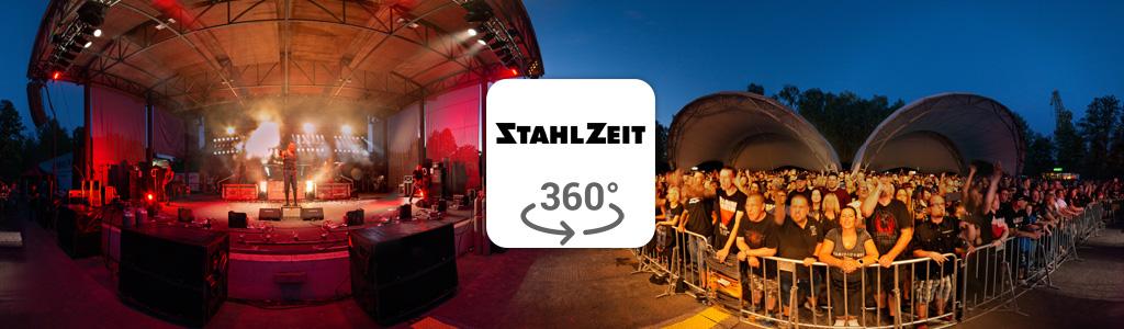 Vorschau-Bild für 360° Foto von Rammstein Cover-Band Stahlzeit im Familienpark Eberswalde 2019 fotografiert von Stefan Klenke